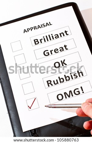 An alternative fun Performance Appraisal form