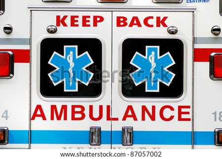 An ambulance concepts of emergency ambulatory care - stock photo