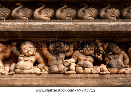An ancient temple at Kelaniya, a place where buddha was supposed to have visited - stock photo