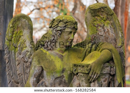 An Angel from the old Prague Cemetery, Czech Republic
