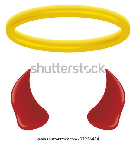 Black Devil Horns Clip Art