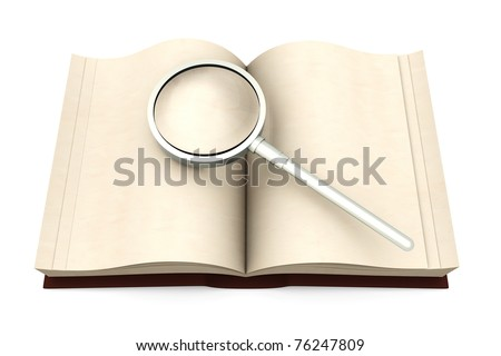 An antique Book. 3D rendered Illustration. Isolated on white. - stock photo