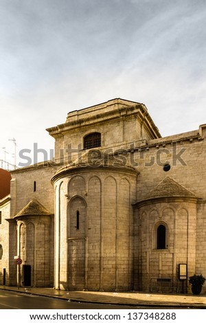 an antique church located in Barletta, a city located in Apulia, South Italy - stock photo