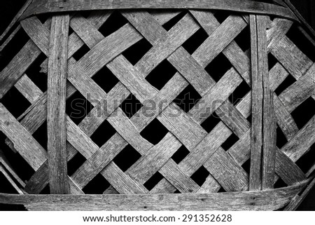 An Antique Wooden Tobacco Basket used to display tobacco taken to market - stock photo