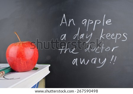 An apple a day keeps the doctor away - stock photo