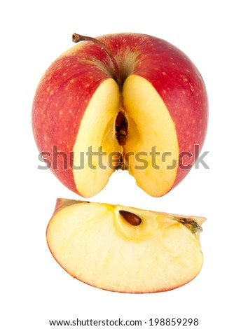 an apple is isolated on a white background - stock photo