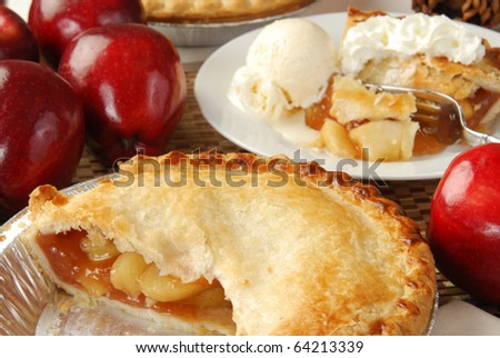 An apple pie, an American holiday food tradition - stock photo
