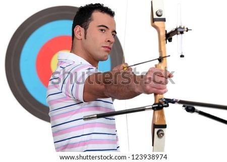 An archer. - stock photo