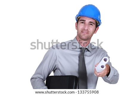 An  architect. - stock photo