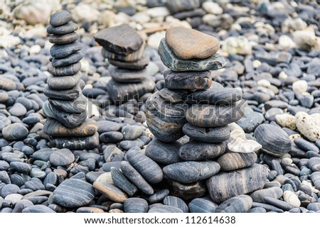Horizontal landscape nature river rocks stock photos for Smooth river rocks for landscaping