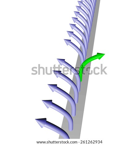 An arrow is different - stock photo