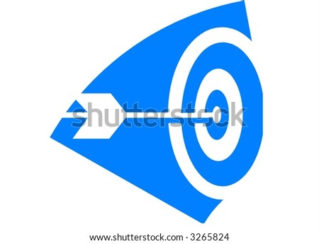 an arrow is showing symbol of vision