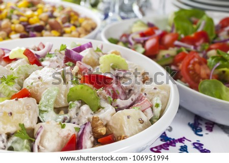 buffet party decorations salad buffet stock images royalty free images vectors