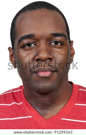 An attractive handsome African American black man - stock photo