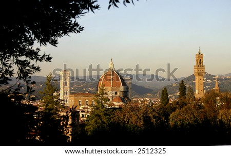 An autumn view of the city of Florence.