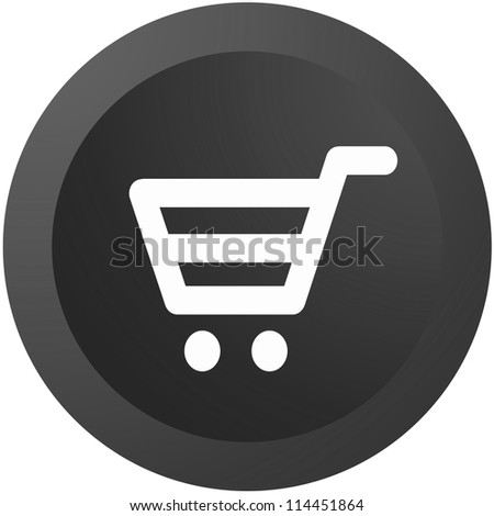 An ecommerce button isolated against a white background - stock photo