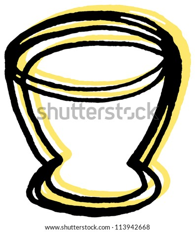 An egg cup - stock photo