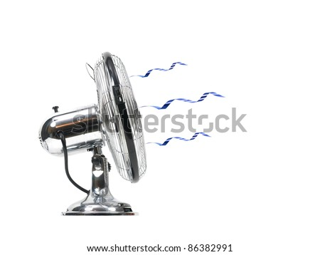 An electric fan isolated on white