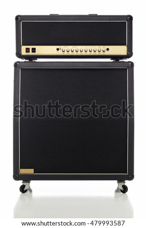 An Electric Guitar Amplifier half stack.