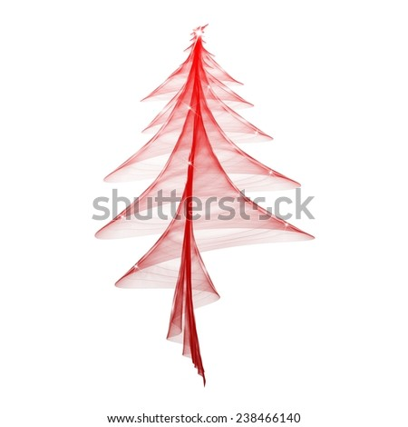An elegant and festive red Christmas tree stylized - stock photo