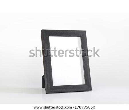 An elegant black desk photo frame - stock photo