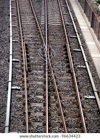 an elevated view of railway in the city