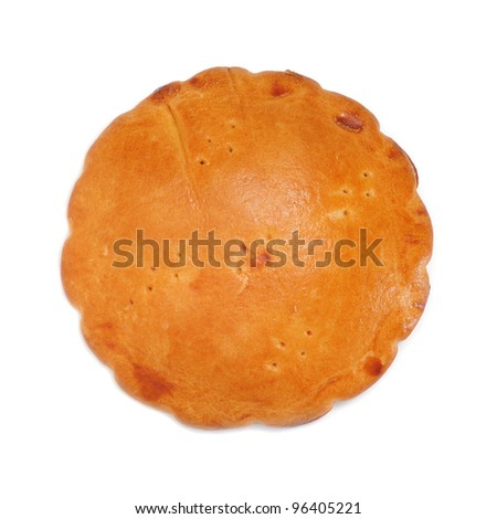 an empanada gallega, a typical cake stuffed with tuna or meat, from Galicia, Spain - stock photo