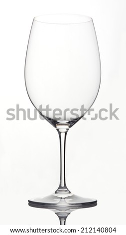 An empty Bordeaux wine isolated on white background. - stock photo