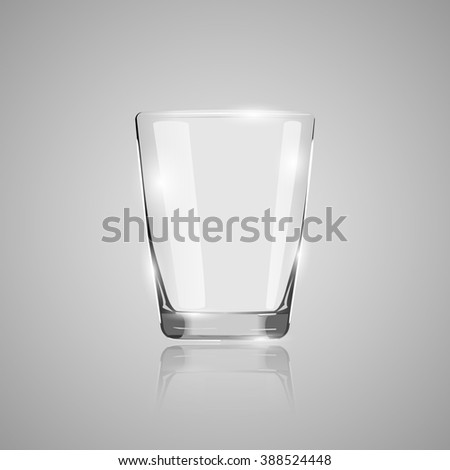 An empty glass of water