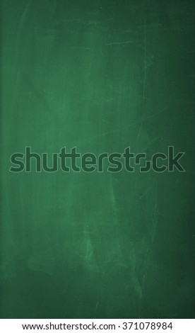 An empty green blackboard background. The green blackboard has dirty chalk texture. Great use for drawing diagrams, for menus, for business and for educational concepts.  - stock photo