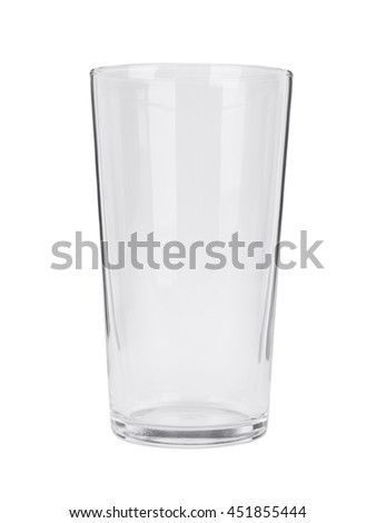 An empty pint glass isolated on a white background