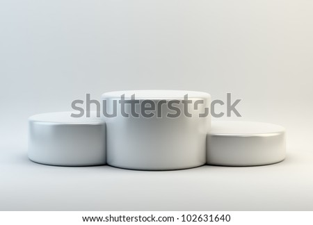 An empty podium interior view - stock photo