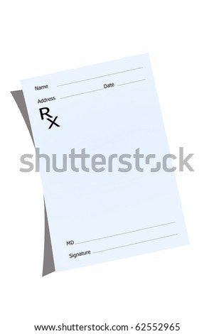 An empty prescription pad stationery - stock photo