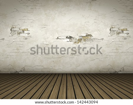 An empty room background for your own content - stock photo