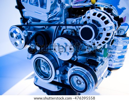 An engine of a modern car.