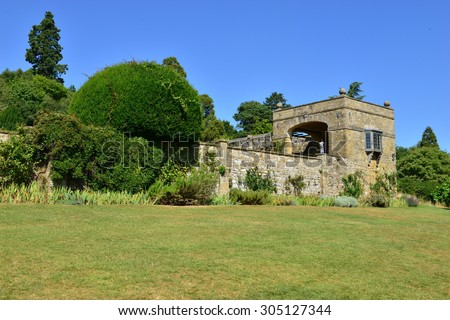 An English country estate on a hot summers day in August.