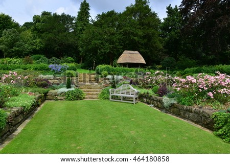 An English country garden in summer.