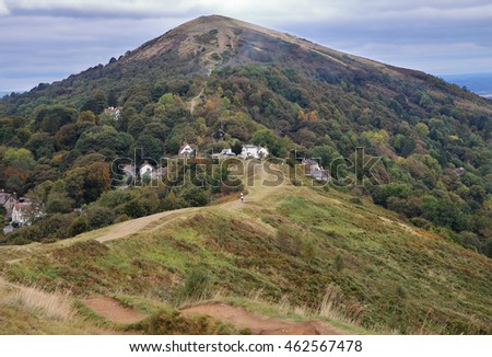 An English Rural Landscape in the Malvern Hills in Worcestershire