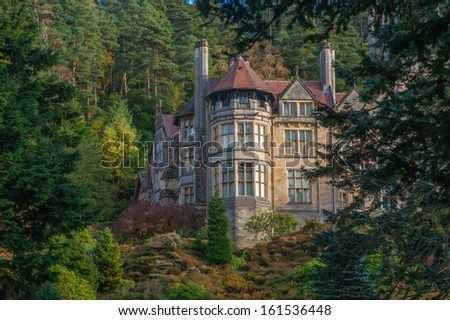 An English Stately Home  - stock photo