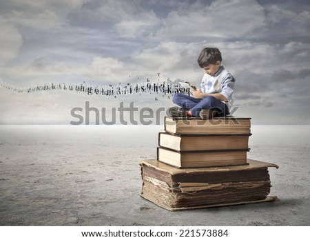 An entire new world in your hands  - stock photo