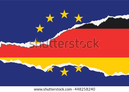 An EU Flag Illustration with the country of Germany - stock photo