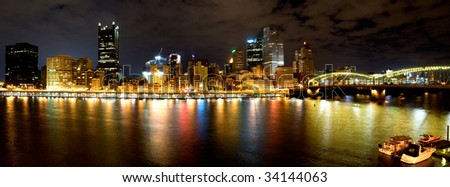 An evening in Pittsburgh - stock photo