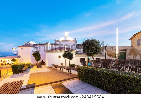 An evening view of Albufeira, Algarve region, Portugal - stock photo