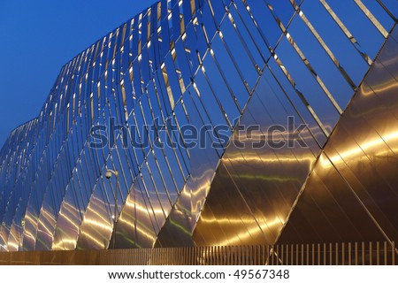 An example of modern architecture in Turin - stock photo