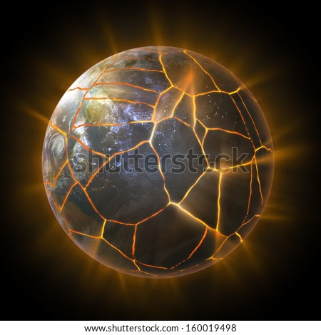 Stock Photo Earth Burning After A Global Disaster Elements Of This D Rendered Image Furnished By Nasaon Asteroid Impact Tsunami