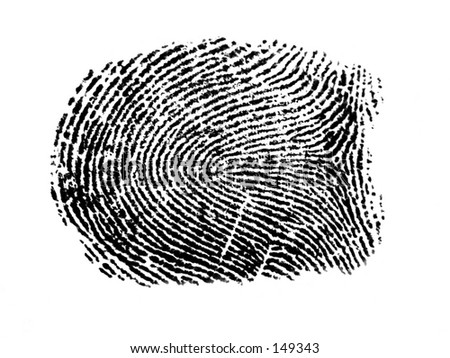 an finger print - stock photo