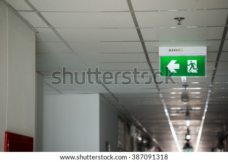 An Fire exit way concept . - stock photo