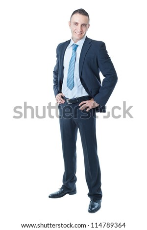 an handsome businessman on a white background