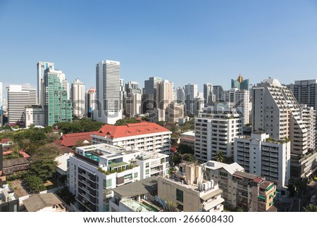 An high density residential area along Sukhumvit road, the heart of modern Bangkok.