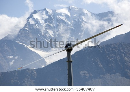 An high mountain wind turbine to supply energy to a remote area